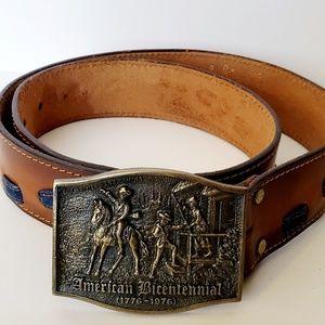 Vintage Belt American Bicentennial Buckle